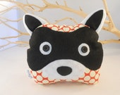 bookend raccoon bookend  amy butler designer fabric - NEW ITEM
