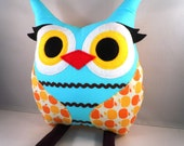handmade stuffed animal owl pillow toy