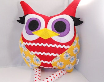 handmade stuffed toy owl pillow owl plush bellamina's owl pillow