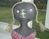 Shelf Sitter Doll -Scary Rellie ( Relative )- Prim Cloth Doll