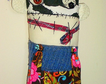 Cloth Monster Doll  Fabric Art Doll Quido the Bandit