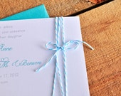 Sweet Stripes Wedding Invitation