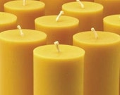 Handmade Beeswax Pillar Candle 2 inches by 4.5 inches