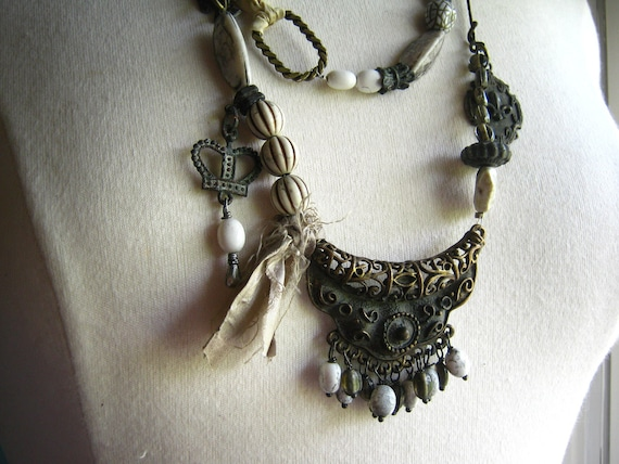 Assemblage Necklace - Urban Bohemian Gypsy inspired