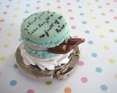 the Mint Macaroon With Chocolate Purse Hanger