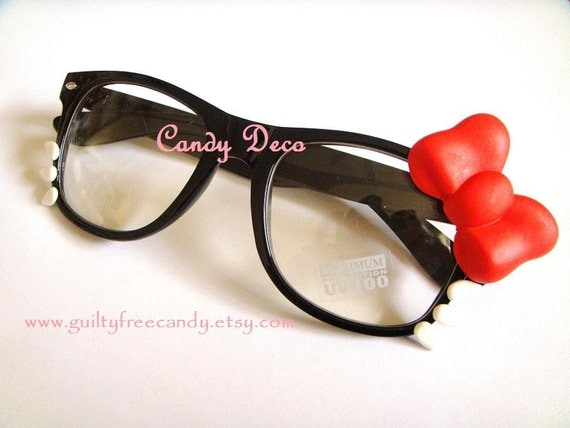 iCat Fashion Glasses (Black x Clear)
