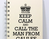 Prayer Journal Diary Notebook - Keep Calm and Call the Man From Galilee - Small Notebook 5.5 x 4.25 Inches - Ivory