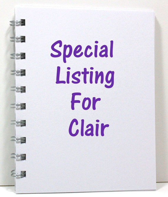 Special Listing For Clair - 4 Custom Keep Calm Journals - Ivory