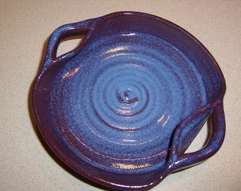 Blue Belle: Handmade Pottery Open Bowl with Handles - In Stock, Ready to Ship