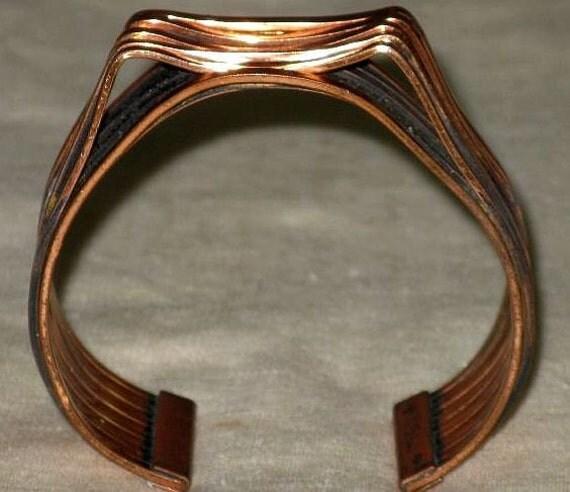 "RENOIR ""INTERPLAY"" Copper Cuff Bracelet (BR-1-6)"