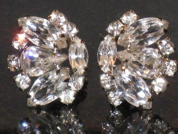 WEISS Clear Rhinestone Earrings (E-1-6)