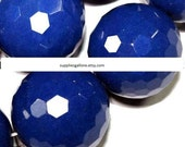 Blue Sapphire Faceted Gemstone Beads 14mm