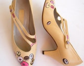Painted Shoes- Frosted Donut Pumps Size 7