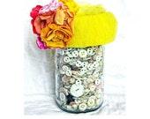 la-tee-da newborn baby chapeau / pillbox hat with handmade roses / one of a kind