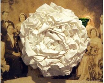 handmade flower / wedding flower of vintage muslin