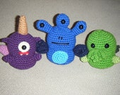 Alien Invaders - crochet pattern PDF