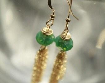 Chinese Lantern Swarovski Earrings