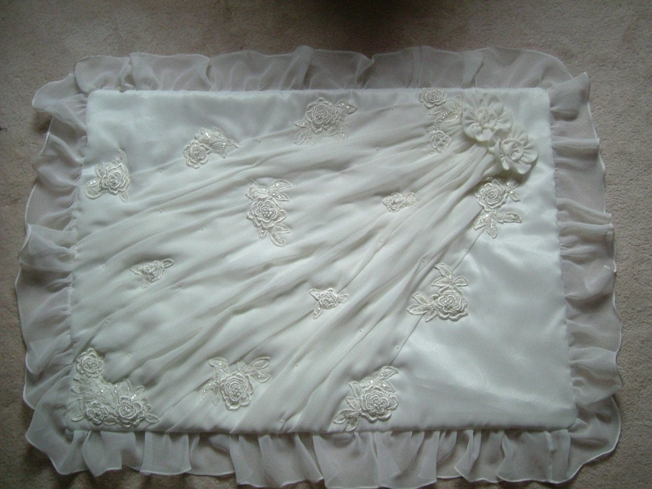 Wedding dress quilt on pinterest quilts wedding dresses for Making baptism dress from wedding gown