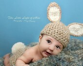 Baby Easter hat - Easter Baby Hat - Newborn bunny photo prop - Baby boy Easter outfit hat only - Baby bunny hat - Easter outfit hat only
