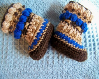 Crochet Booties - Baby Booties - Crochet Boots - Crochet Shoes - Crochet Baby Booties - Boy Mukluks - mukluk slippers - mukluk boots