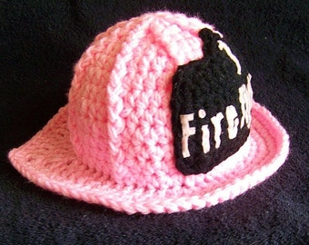 Firefighter Baby - Baby Firefighter - baby girl firefighter helmet - fireman baby girl hat - firefighter photo props - firefighter helmet