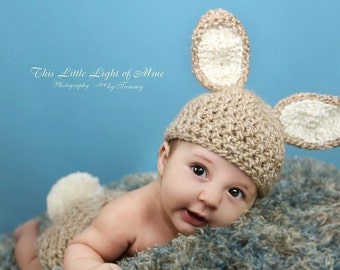 Baby Easter hat - Easter Baby Hat - Newborn bunny photo prop - Baby boy Easter outfit hat only- Baby bunny hat - Easter outfit hat only -