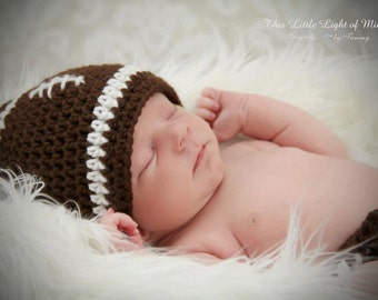 Best Newborn Photo Props - Baby Photo Prop - Baby Football Outfit - Photo props - Football hat and diaper cover - photo prop