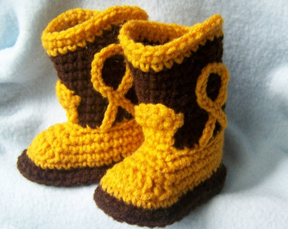 Reserved Listing For Kimberly Newborn Size Boots in Brown And Tan To Match The Hat In Order 59686025