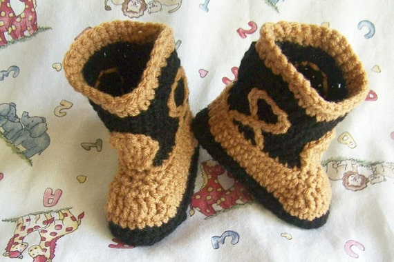 Baby Cowboy Boots Chocolate Brown and Tan Newborn to 24 Months