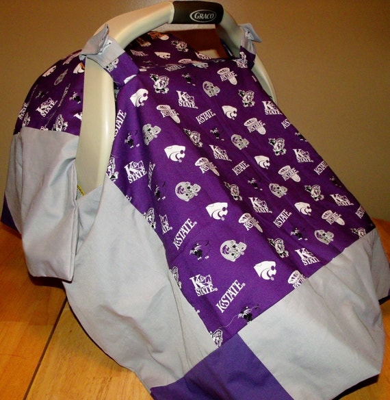 REDUCED - KSU Wildcats - Infant Car Seat Canopy Cover