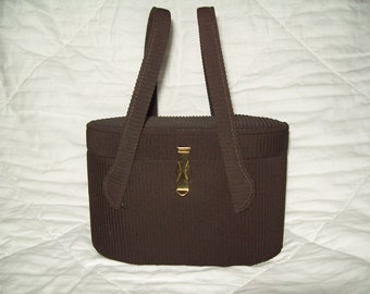Vintage Brown Box Handbag  ON SALE NOW