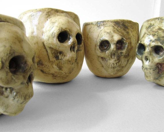 skull shot cups