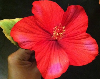 Real Touch HIBISCUS flower hairpick