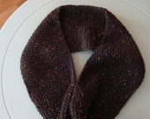 Chunky Knit Brown Infinity Scarf
