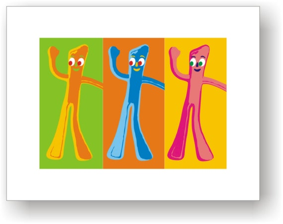8x10 Pop Art Print / C Wiedenheft / Gumby