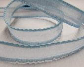 Sheer Ruffle Ribbon 1,5 cm -- Light Blue -3 meter