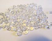 Plastic Half Rain Beads - Clear - Bauble Dew Drops