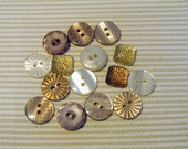 NEW - Buttons - Basics Assorted Sizes - WHISPER