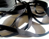 Grosgrain Ribbon  -- Black -3 yards