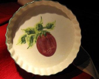 Vintage Plum Decorative Serving Dish  /  Laurie Gates Designs/ Collectibles