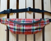 Prismatic Red Plaid Fanny Pack