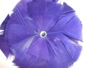 Purple feather flower, feather fascinator, purple fascinator, feather flower for bridesmaids