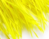 Yellow Goose Biot Feather Fringe, 5 Inch Piece (30 or More Feathers) for Millinery and Craft