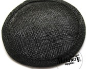 Black Round Millinery Sinamay Hat Base for Fascinators and Cocktail Hats