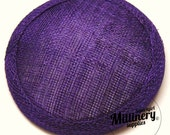 Purple Round Millinery Sinamay Hat Base for Fascinators and Cocktail Hats