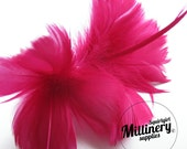 Fuchsia Goose Feather Flower Hat Trim for Fascinators, Wedding Veils and Hat Making