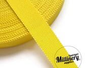 Yellow 15mm No.3 Millinery Petersham Hat Ribbon (5 yards)