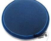Blue Round Wool Felt and Velvet Fascinator Hat Base