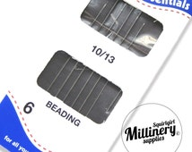 Pack of 6 Beading Hand Sewing Needles (Size 10/13)