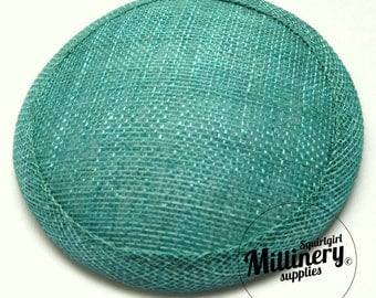 Jade Round Millinery Sinamay Hat Base for Fascinators and Cocktail Hats